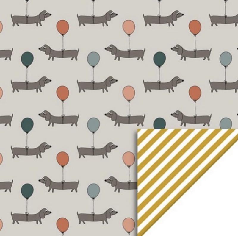 Teckeltjes Inpakpapier    2 meter x 50 cm