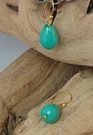 Oorhanger Jade aqua/ turquoise