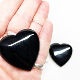 Edelstenen hart Obsidiaan