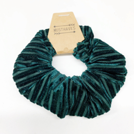 Scrunchie emerald streep