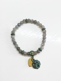 Boho Labradoriet armband