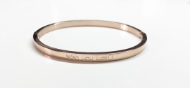 "Stainless Steel armband rose dun ""wish you luck"""