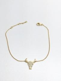 Armband goud buffel