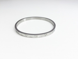 Armband Stainless steel zilver dun: driehoek