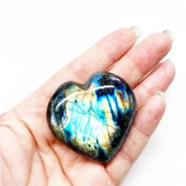 Edelstenen hart Labradoriet AAA