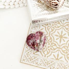 Edelstenen hart Roze Toermalijn
