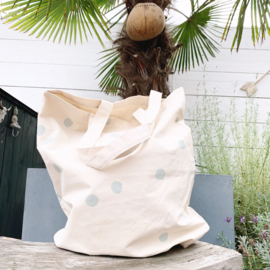 Canvas tas met mint stip