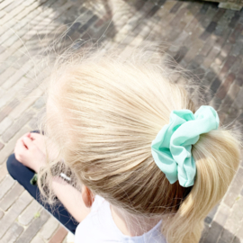 Scrunchie Aqua Green