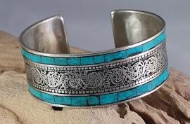 Turkoois filligraan armband