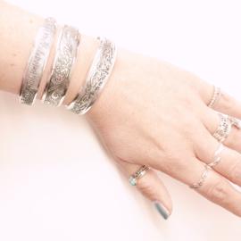 Armband Tibetaans/stainless steel