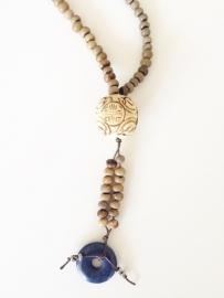 Ketting Palmarinha zaden met Lapis Lazuli