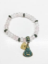 Boho Rozenkwarts armband
