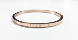 "Stainless Steel armband rose dun ""Inspire"""