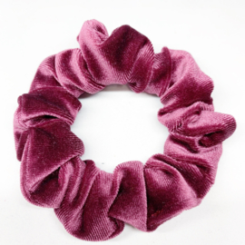 Scrunchie Bordeaux/roze