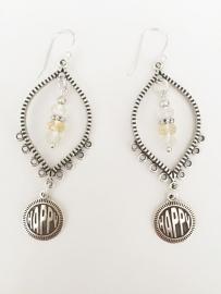Citrien zilveren oorbellen
