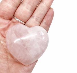 Edelsteen hart Rozenkwarts M2