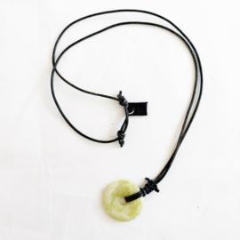 Lemon Jade donut ketting zwart