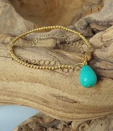 Armband Jade aqua
