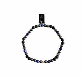 Hematiet en Lapis Lazuli armband
