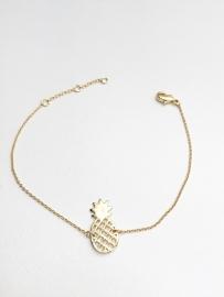 Armband Goud ananas