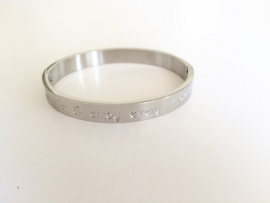 "Armband Stainless steel ""love life & enjoy ....."