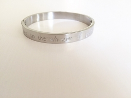"Armband Stainless steel ""listen to the whisper...."