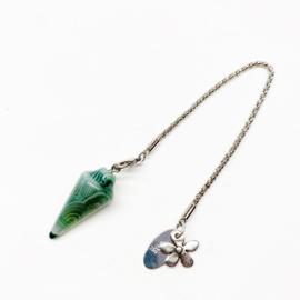 Pendel groene Agaat