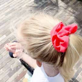 Scrunchie coral red/pink
