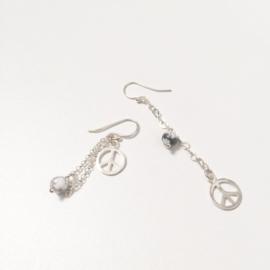 Howlite dissimilar earrings
