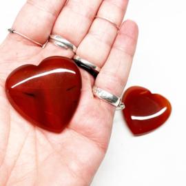 Edelstenen hart bloed Carneool