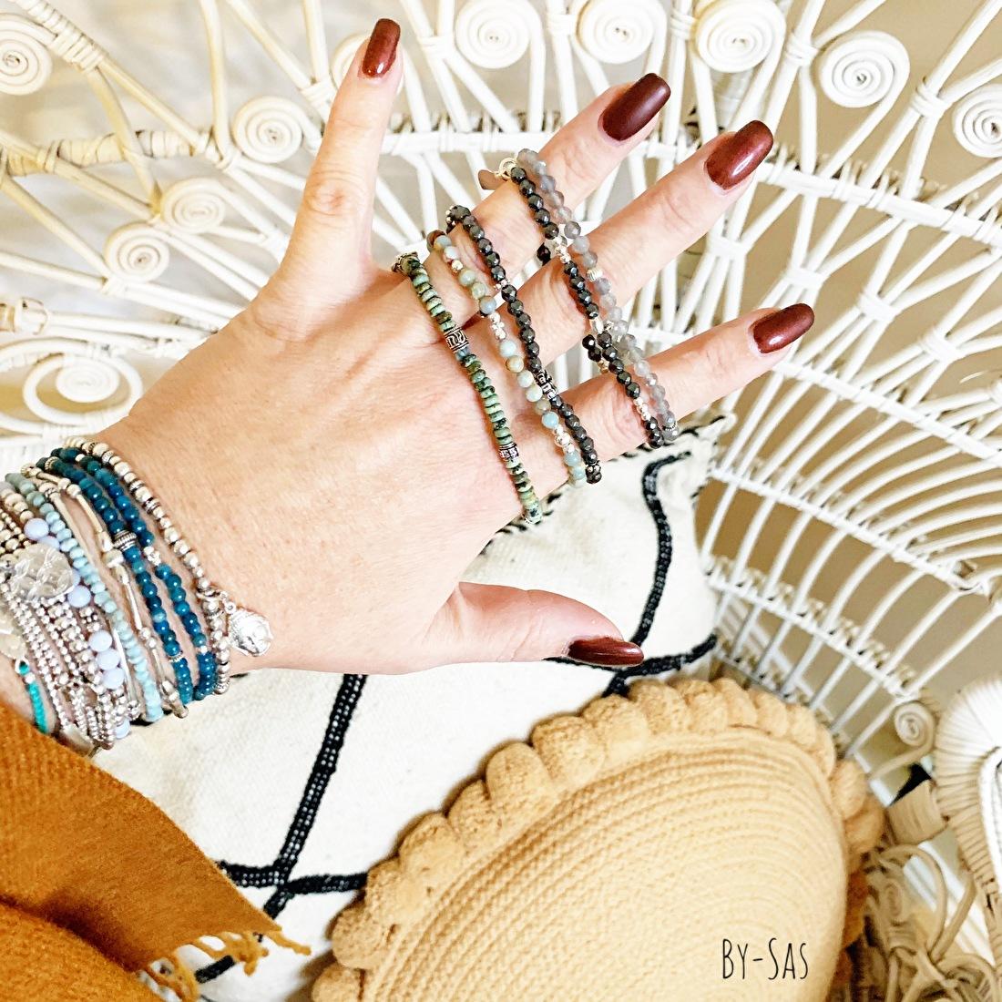 edelsteen armband tiny, klein leuk mix joy bali of Ozz