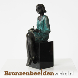 """Zakelijk beeldje """"De secretaresse"""" BBW004br25"""