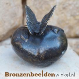 Bronzen asbeeldje met vlinder BBW0369BR
