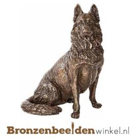 Hondenbeeldje herdershond brons BBWP4478