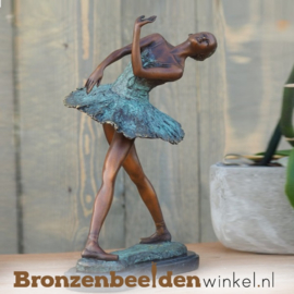 Bronzen ballerina beeld BBW1203br