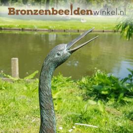 Bronzen kraanvogel beeld BBW1179br
