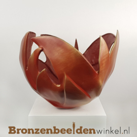 "Abstract beeld ""Bloem des Levens"" (rood)"