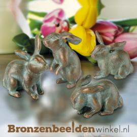 Bronzen hazen beeldjes BBW37993
