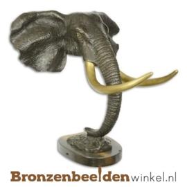 Bronzen olifanten kop BBWXX70