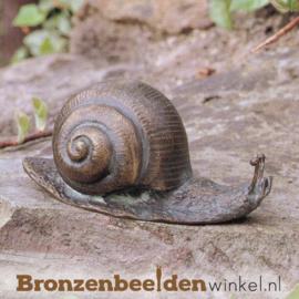 Beeld slak in brons BBW88008