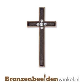 Bronzen kruis met Swarovski kristallen BBW20703