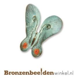 Bronzen vlinder beeldje BBW20368