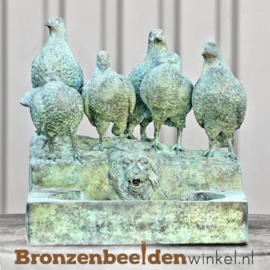Muur fontein met duiven BBW75096