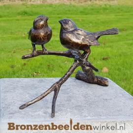 NR 8 | Cadeau vrouw 90 jaar ''Twee vogeltjes op tak in brons'' BBWFH2MG