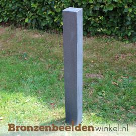 Granieten natuursteen sokkel 95x12x12 cm - gezoet
