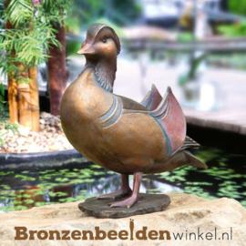 Beeld mandarijneend brons BBW37277