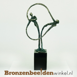"Huwelijkscadeau ""Verbonden"" - groene patina BBW004br37g"