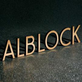 Losse letters Alblock - patina licht bruin