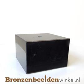 3x Marmeren sokkel 5x7,5x7,5 cm