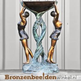 Bronzen fontein met klassieke vrouwen BBW8003